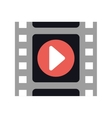 film strip cinema movie icon graphic vector image