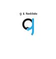 Creative g- letter icon abstract logo design vector image vector image