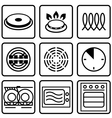 Metallic tableware symbols for food grade metal vector image vector image