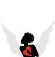 amur heart vector image