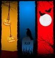 halloween scenes vector image vector image
