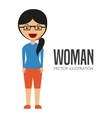 avatar of woman vector image