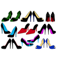 of different shoes vector image