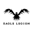 negative space concept of warrior heads in eagle vector image