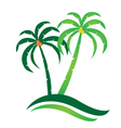 Tropical island logo vector image
