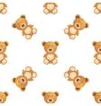Cute bear seamless pattern vector image