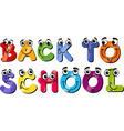 back to school sign cartoon vector image