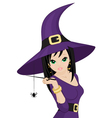 beautiful witch vector image