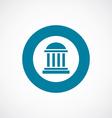 building icon bold blue circle border vector image