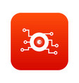 cyber eye symbol icon digital red vector image