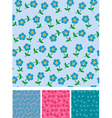 Easy flowers on seamless pattern vector image