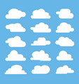 flat cloud on blue background vector image