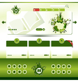 green eco website template vector image