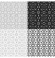 Grey seamless patterns vector image