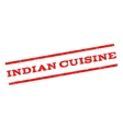 Indian Cuisine Watermark Stamp vector image