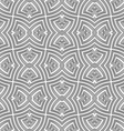 monochrome geometric twisted seamless pattern vector image
