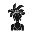 Samba dancer icon in black style isolated on white vector image