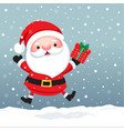 santa claus cartoon character for christmas cards vector image