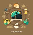 tea ceremony round composition vector image