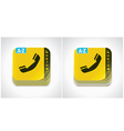 yellow phone book icon vector image