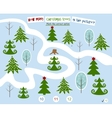 Homework for kids How many trees in the picture vector image