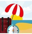 summer vacation travel vector image