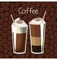 delicious coffee always fresh poster vector image