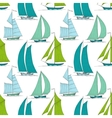 Boats on water seamless pattern marine vector image