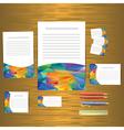 Geometric banner design template vector image