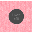 pink colored thank you card vector image vector image