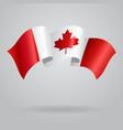 Canadian waving Flag vector image vector image