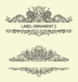Label ornament 5 vector image
