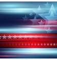 American Independence Day striped red and vector image