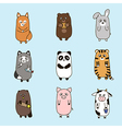 Funny animals hand drawn picture vector image