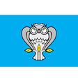Novyurengoy city flag vector image vector image