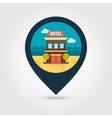 Hotel pin map icon Summer Vacation vector image