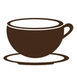 brown coffee cup graphic vector image