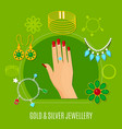 gold and silver jewelry composition vector image