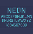 Neon light alphabet vector image