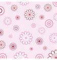 Retro floral background vector image
