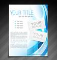 stylish brochure flyer poster template design vector image