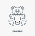 teddy bear outline icon vector image