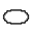 Black frame picture simple design vector image