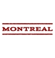 Montreal Watermark Stamp vector image