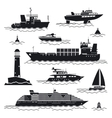 Ship and boat icons vector image