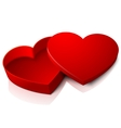 realistic blank bright opened red heart vector image