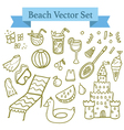 Beach elements vector image