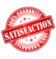 Satisfaction red stamp vector image