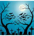 Cemetery blue vector image vector image