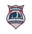 baseball major league championship vintage label vector image